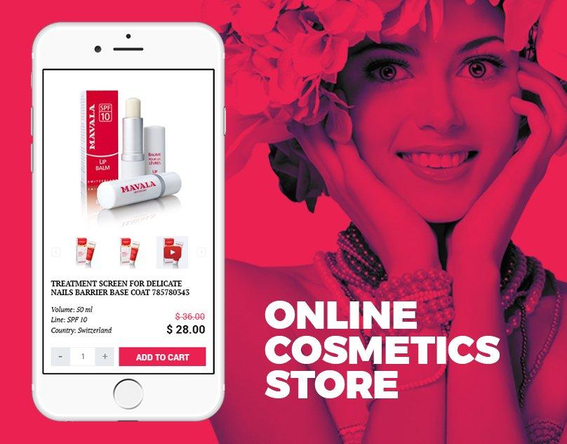 cover интернет-магазина Швейцарской косметики