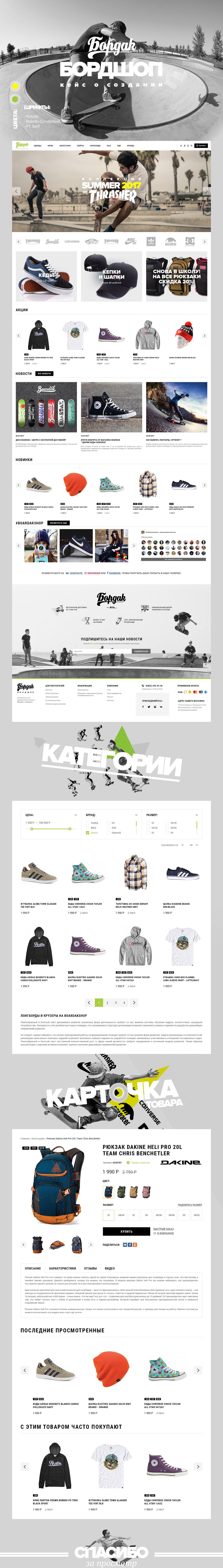 Интернет-магазин товаров для скейтбордистов BOARDak Boardshop